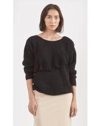 Ryan Roche Handknit Cashmere Sweater black - Lyst