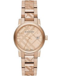 Burberry Ladies The City Rose Goldtone Bracelet Watch - Lyst