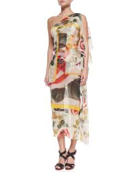 Jean Paul Gaultier | One-Shoulder Sheer Printed Coverup | Lyst
