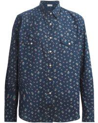 Saint Laurent Floral Western Shirt - Lyst