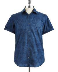 Calvin Klein Woven Peony Sport Shirt - Lyst