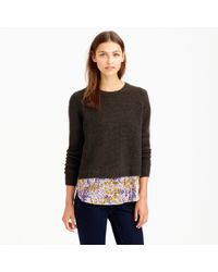 J.Crew Preorder Merino Shirttail Sweater in Liberty Tiny Poppytot Floral - Lyst