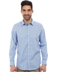 Calvin Klein Ls Noniron Yarn Dyed Stripe Poplin Woven Shirt - Lyst