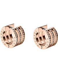 Michael Kors Pave Huggie Earrings - Lyst