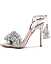 Aquazzura Wild Thing Leather Heels - Lyst