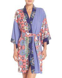 Bollydoll - Print Kimono Robe - Lyst