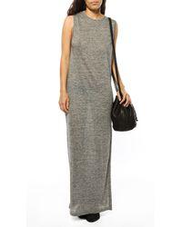 T By Alexander Wang Linen Silk Maxi Dress - Lyst