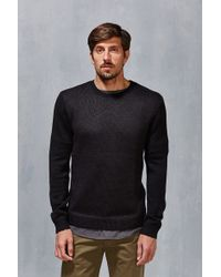 Vanishing Elephant | Two Tone Textured Sweater | Lyst