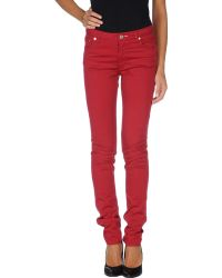 Acne Studios Red Casual Pants - Lyst
