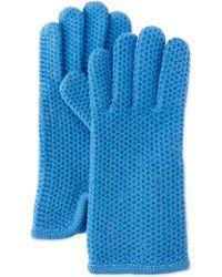 Portolano Cashmere Honeycomb-knit Glove - Lyst