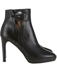 Burberry Lysterfield Check Detail Ankle Boots - Lyst