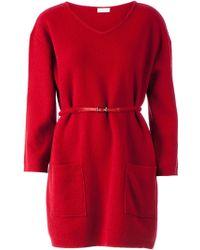 Maison Ullens Belted Front Pockets Dress - Lyst