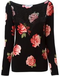 Blumarine Lace and Roses Knitted Top - Lyst