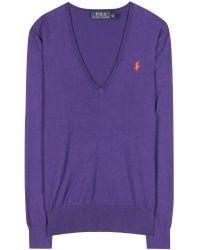 Ralph Lauren Eloise Cottonblend Sweater - Lyst