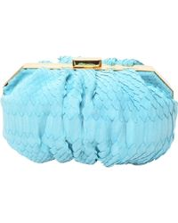 Philippe Roucou - Peppermint Python Clutch - Lyst