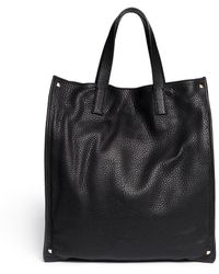 Valentino Rockstud Grainy Leather Tote - Lyst