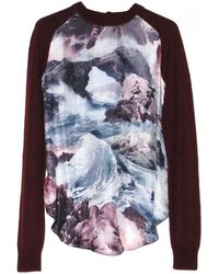 Carven Seascape Print Front Sweater - Lyst
