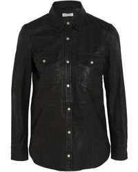 Etoile Isabel Marant Brent Leather Shirt - Lyst