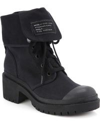 Marc By Marc Jacobs Army Canvas Lace-Up Boots - Lyst