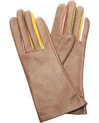 Rodarte Multicolored Leather Gloves - Lyst