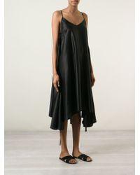 MM6 by Maison Martin Margiela Asymmetric Loose Fit Dress - Lyst
