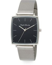 English Laundry - Stainless Steel Interchangeable Mesh Bracelet & Leather Strap Watch - Lyst