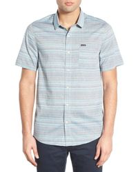 Volcom | 'ledfield' Modern Fit Stripe Short Sleeve Sport Shirt | Lyst