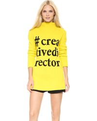 Moschino Cheap and Chic Sweater Yellow - Lyst