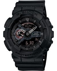 G-Shock Men'S Analog-Digital Black Resin Strap Watch 55X52Mm Ga110Mb-1A - Lyst