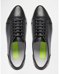 Bronx - Black Leather Plimsolls - Lyst