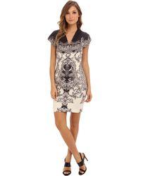 Nicole Miller Flourish Neoprene Dress - Lyst