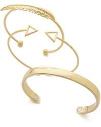 Adia Kibur - Bangle Bracelet Set - Gold - Lyst