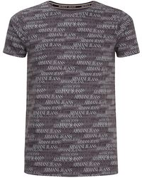 Armani Jeans Logo Printed T-Shirt - Lyst