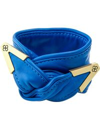 Colette Malouf Leather Twist On The Wrist - Lyst