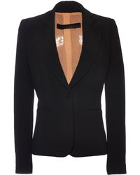 Elie Saab Black Stretch Cady and Lace Smoking Jacket - Lyst
