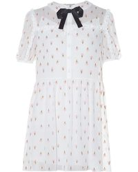 Saint Laurent | Ice Cream-embroidered Georgette Dress | Lyst