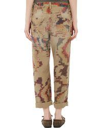 Etoile Isabel Marant Rarson Printed Jeans - Lyst