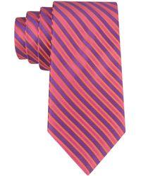 Ted Baker Silk Stripe Tie - Lyst