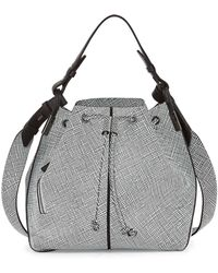 Time's Arrow - Lida Grid-Print Bucket Bag - Lyst