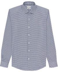 Reiss Savanna Tonal Houndstooth Shirt - Lyst