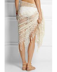 Anna Kosturova - Tasseled Crocheted Cotton Wrap - Lyst