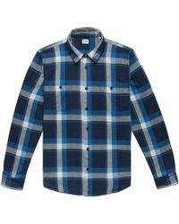 Edwin | Blue Check Labour Shirt | Lyst