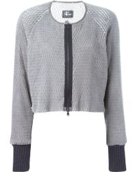 Lost & Found - Perforated Cropped Jacket - Lyst