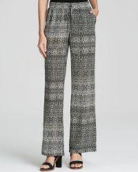 Charlie Jade - Snake Print Wide Leg Silk Pants - Lyst