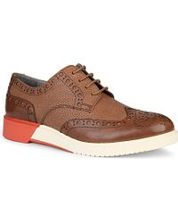 Anthony Miles Brooke Contrast Leather Brogues - For Men - Lyst