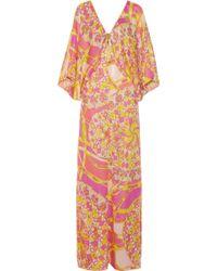 Emilio Pucci Printed Silk Kaftan - Lyst