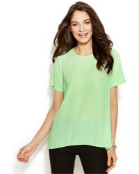 Vince Camuto Pleat-Back High-Low Blouse - Lyst