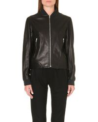 Rag & Bone Skidpan Leather Bomber Jacket - Lyst
