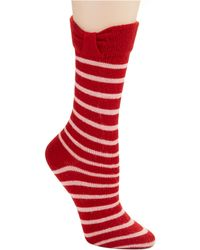 Kate Spade Bow Cuff Trouser Socks - Lyst