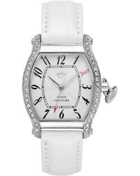 Juicy Couture Womens Dalton White Crocembossed Leather Strap Watch 32mm - Lyst